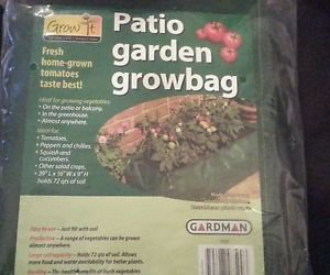"Lot x 2 Garden Patio ReUse �16""x39""x9""�72 qts soil �woven polyethylene grow bags"