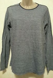 Women's Size Small S Gap Brand 100% Cotton Blue Long Sleeve Layering Casual Top