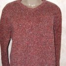 Women's Columbia Sweater Long Sleeve V Neck Multi Color L 100% Cotton