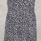 Women's GNW Black White Polka Dot Sleeveless Wrap Dress Casual Below Knee Sz 12