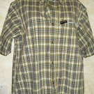 NEW!  Men's COLUMBIA GRT L Madras Plaid Multi-Color Casual Button Shirt Cotton