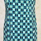 Women's Jrs. AGB DRESS Petite 6P Multi-Color Sleeveless Pencil Dress Zip Back