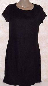 Metamorphosis Women's Sweater Dress Size M Charcoal Gray Acrylic Above Knee S/S