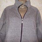 New! Women's Great Northwest Indigo Zip Up Sweatshirt Size Large Polyester