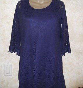 Women's H&M DIVIDED US 10 EUR 40 Purple Lined Crochet Dress Above Knee Lace 3/4