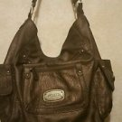NEW! ROSETTI LADIES HANDBAG TAUPE BRAIDED SHOULDER STRAP LARGE SIZED