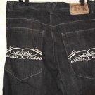 NEW! Men's SOUTHPOLE Sz36 Black Denim Shorts Classic Stitch Pockets 100% Cotton