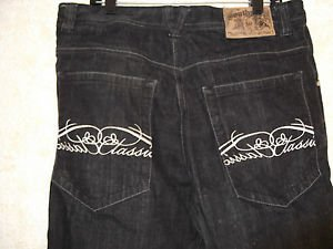 NEW! Men's SOUTHPOLE Sz36 Black Denim Shorts Classic Stitch Pockets 100% Cotton