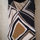 NEW! Women's  DANA BUCHMAN S Halter Strap Dress Geometric Multi-Color Browns