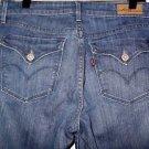 """Women's Levi Demi Curve 8/29 Dark Classic Boot Cut 32"""" W x 32"""" L Cotton Blend"""
