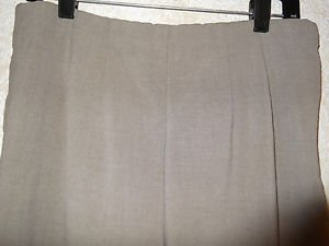 Women's 212 Collection Dress Pants 10 Average Beige Polyester Blend