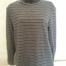 Great Northwest Knit Top L Multi-Colored Striped Casual Cotton/Spandex Blend