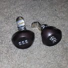 Lot of 2 safe keyless entry 3# combination locks reversible bent offset BROWN