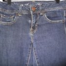 Women's Jrs. AMERICAN EAGLE Dark Wash Jeans Super Stretch Sz4 99% Cotton 1% Span