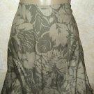 "New! Women's Croft & Barrow 14 Career Skirt Rayon Floral Multi Color 33"" Length"