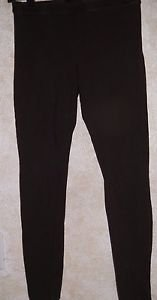 """Women's Stretch Pants Leggings Solid Brown Size S HUE 30"""" Inseam 28"""" Waist"""
