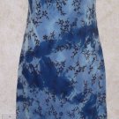 Girls Jrs. CITY TRIANGLES Sleeveless Blue Textured Dress Size M Sheer Overlay