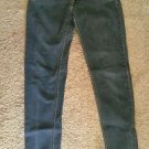 Women's skinny low rise jeans cotton blend medium wash 11 inseam 32 OP