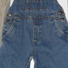 Gymboree Blue Boys Jean Overalls Pockets Snaps S 3-4 Children Everyday Solid