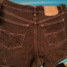 Paris Blues Originals Juniors 9 Black Solid Flat Front Short Denim Zip Fly