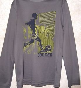 Boys M 10/12 Gray Activewear DRI WICK Tek Gear All Seasons Everyday Polyester