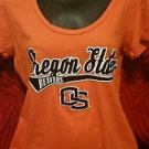 Women's Team Apparel Oregon State Beavers OSU Short Sleeve Shirt Raised Felt EUC
