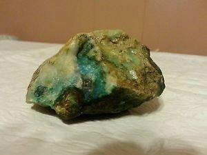 TEAL quartz raw cabbing different shades of green minerals beautiful 9.4 oz