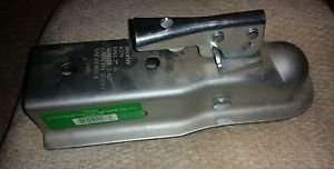 """Trailer 3500 lb Zinc Straight Tongue Coupler for 2"""" ball x 2"""" wide tongue NEW"""