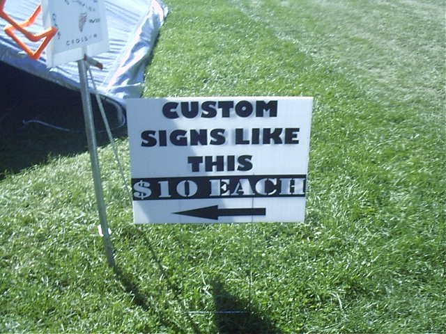 """Custom 24"""" by 18"""" Yard Sign"""