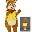 Cute Squirrel Mascot SpotSound Canada With A Yellow And Red Customised Top