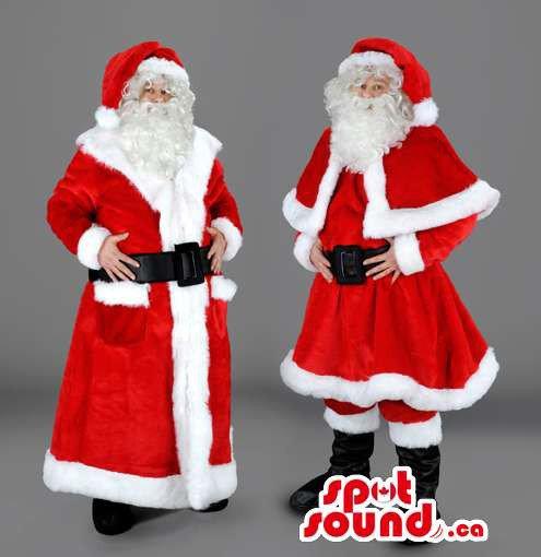 Santa Claus Christmas Holiday Human Mascot SpotSound Canada With Knee-Length Dress