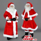 Santa Claus Christmas Holiday Human Mascot SpotSound Canada With Knee-Length Dress