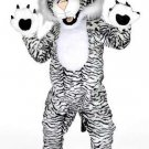 Tiger Plush Mascot SpotSound Canada With Black Stripes On White And Large Paws