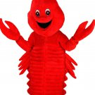 All Red Lobster Mascot SpotSound Canada Crustacean With Antennae Open Mouth