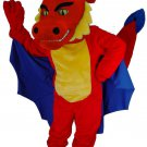 Customised Red Dragon Plush Mascot SpotSound Canada With Blue Wings