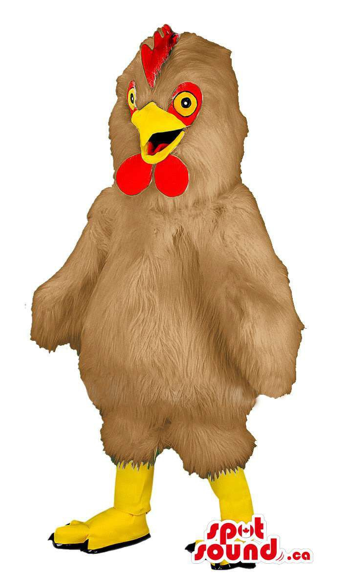 Customised Brown Chicken Or Hen Animal Farm Plush Mascot SpotSound Canada