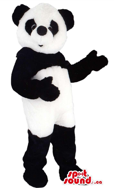 Black And White Customised Animal Panda Bear Mascot SpotSound Canada