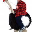 Black Ostrich Mascot SpotSound Canada With Human Walker On Top And Long Neck