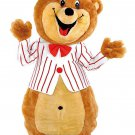 Brown Teddy Bear Mascot SpotSound Canada With White And Red Jacket And Hat
