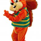 Orange And Brown Squirrel With Green And Yellow Vest