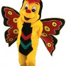 Customised Yellow Butterfly Insect Plush Mascot SpotSound Canada With Red Hair