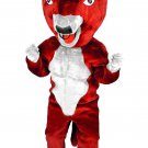 Red Goat Animal Mascot SpotSound Canada With Horns Bad Red Tongue