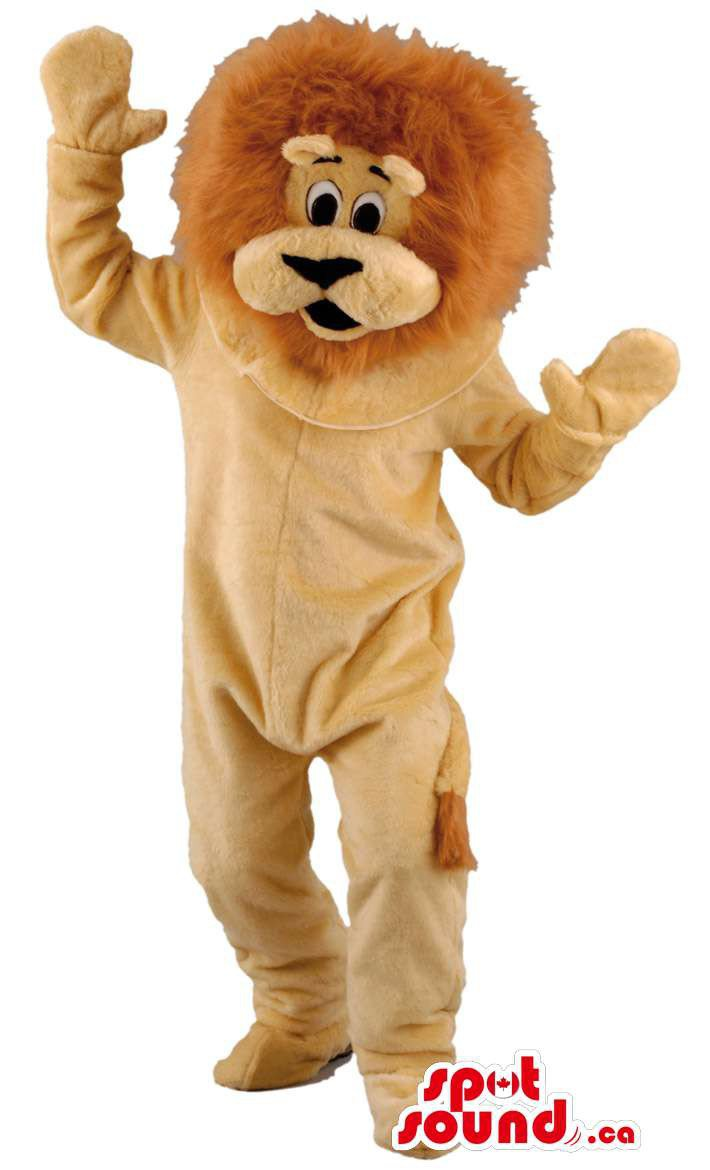 All Lion Animal Plush Mascot SpotSound Canada With Brown Body And Hair