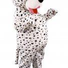 Dalmatian Pet Mascot SpotSound Canada With Black Spots And Red Tongue