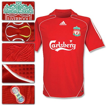 Liverpool Maillot Domicile 2007-2008 Taille M