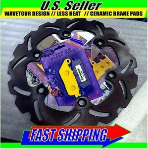 Brake Disc Rotor & Ceramix Front Pads Honda VT750 Shadow 98-11 CB CBF