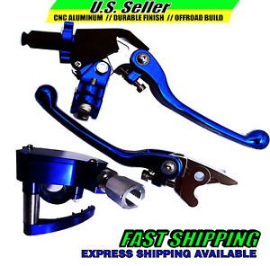 Lever & Thumb Throttle Set Brake Clutch Blue YAMAHA YFZ450 2007-2014