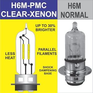 H6M H6 h6 35/35W ONE HEADLIGHT BULB CLEAR WHITE Honda TRX250 400 450 500 650 680