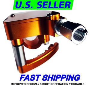 NEW - ATV THUMB THROTTLE CNC ALUMINUM GOLD HONDA TRX250 300 400 450