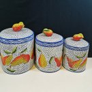 Clay Art Mosaic Pear Canister Set